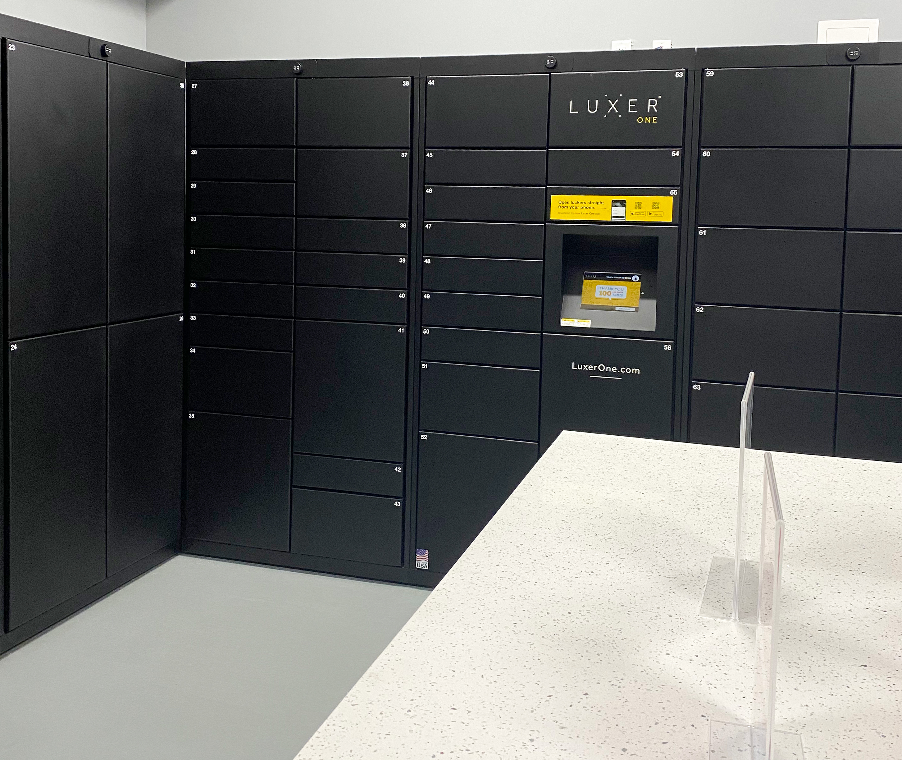 Luxer Mail room