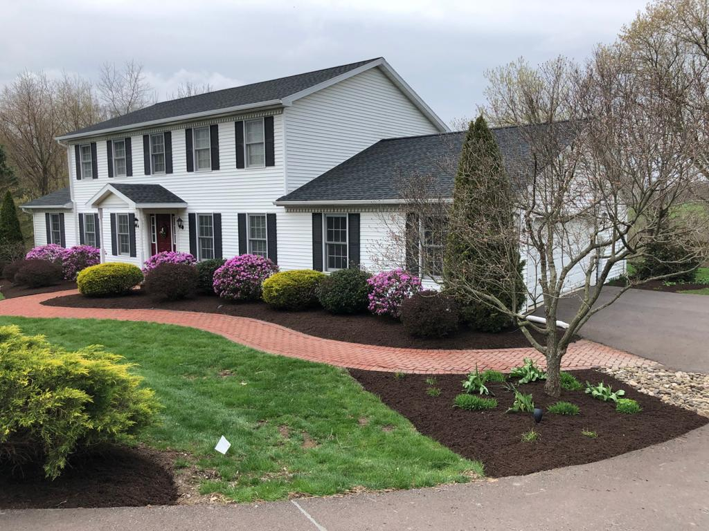 a finished mulch job by jc landscapes llc