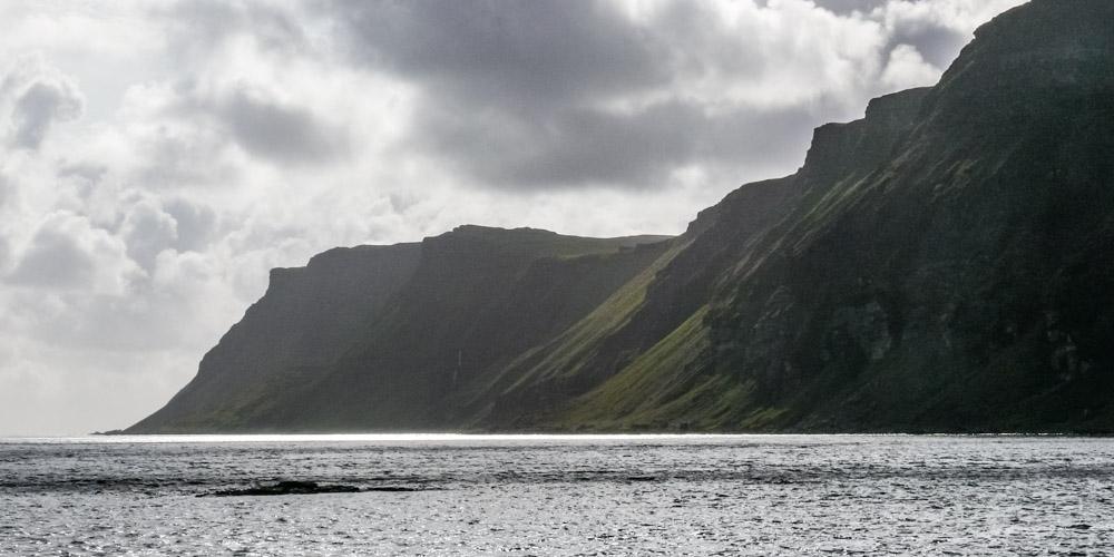 Carsaig sea cliffs on the Pennyghael Estate