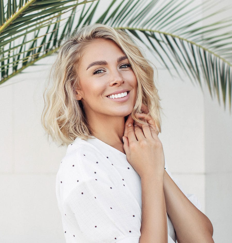 client with smooth skin after rf microneedling in salt lake city