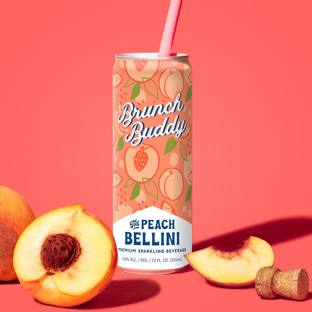 Feeling bubbly and peachy today? Grab this Peach Bellini that serves up vibrant peach fruit juices perfectly blended with real California wine. It's sure to keep the good vibes rolling.