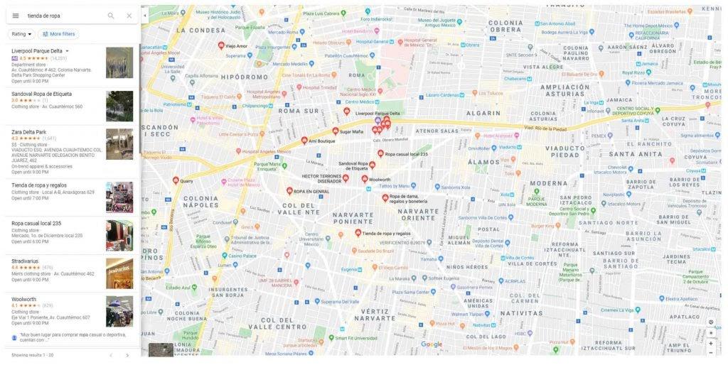 anuncio google maps y ubicaciones