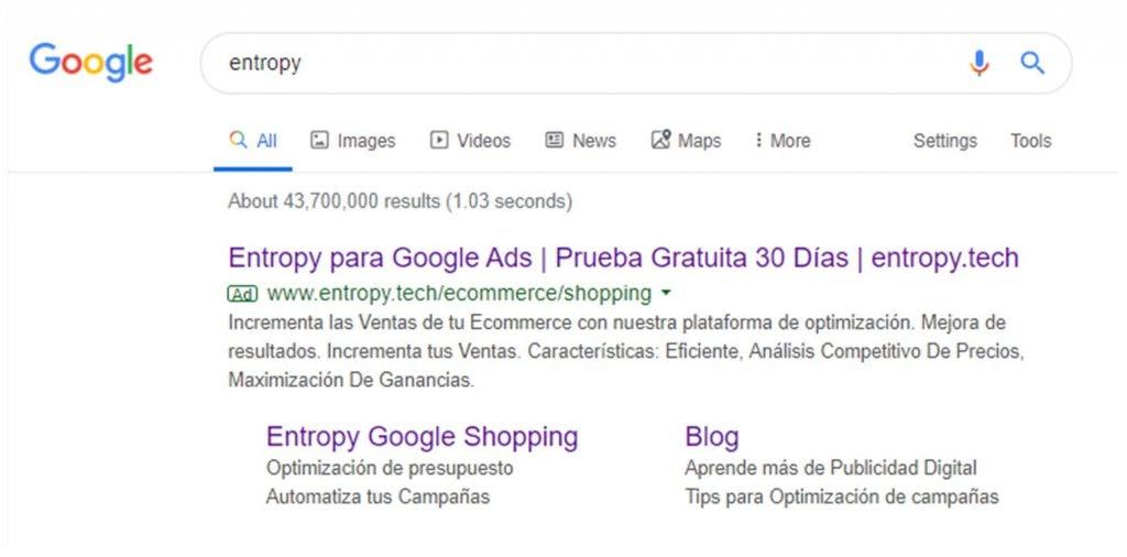 Anuncio search anuncio de texto Google Ads