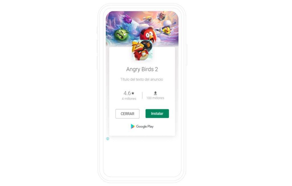 anuncio en aplicaciones