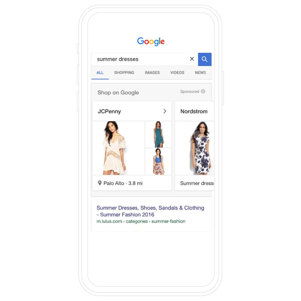 Tipo de anuncio en Google Shopping