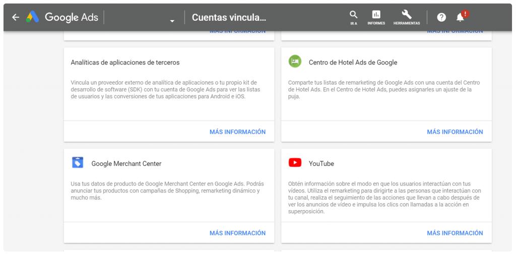 Vincular Merchant Center con Google Ads