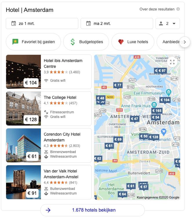 SERP features: lokale zoekresultaten
