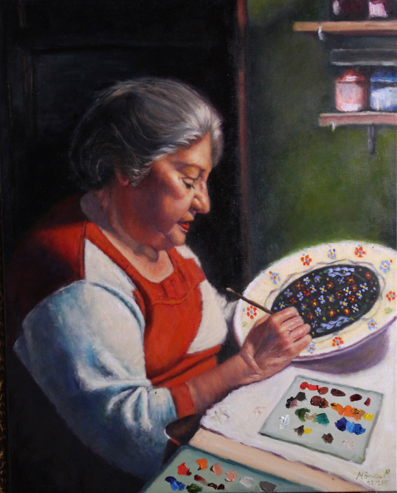"Aunt Eliza - 24"" x 30"" - Oil on canvas"
