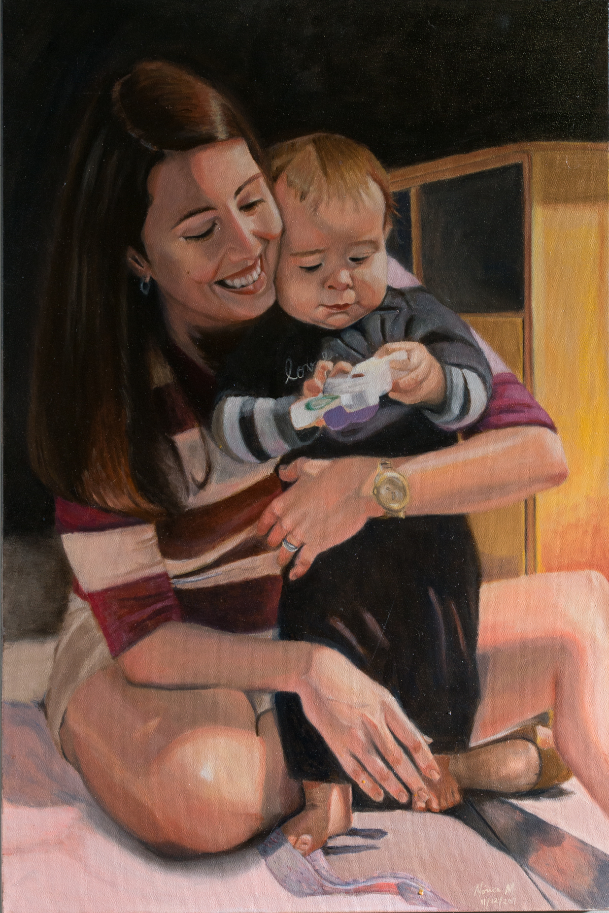Leti and Robertinho - Oil on canvas