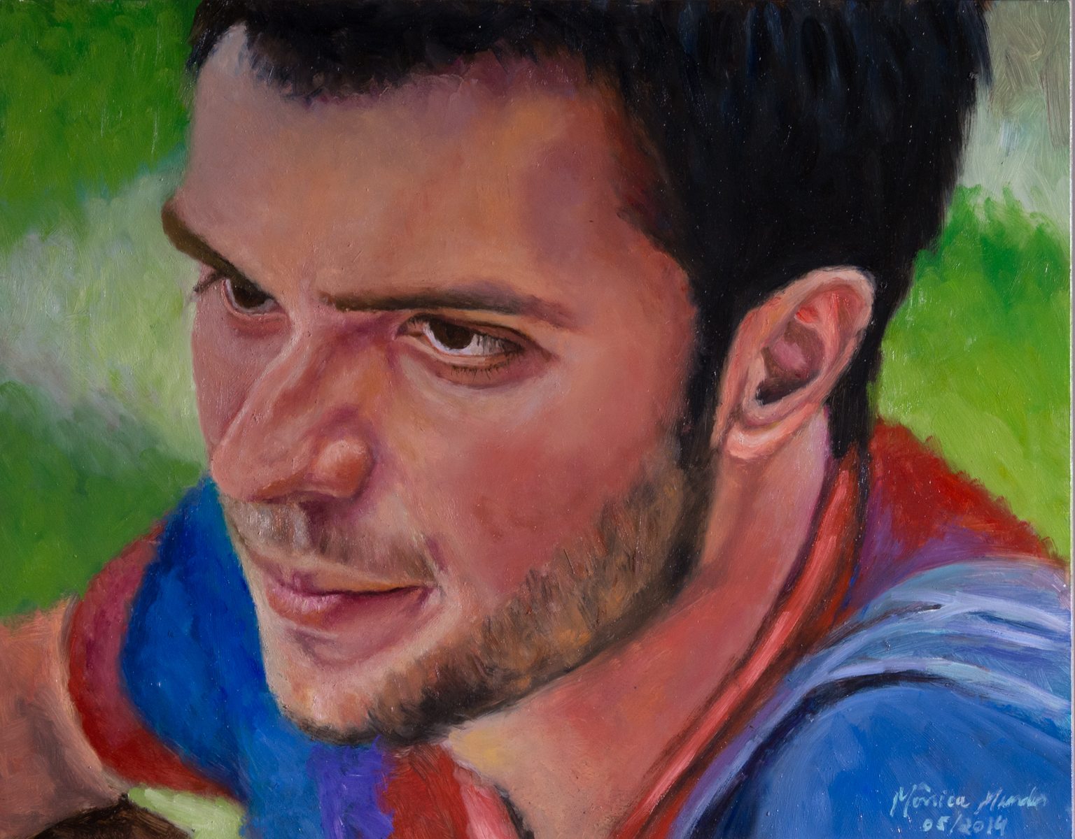 Marquinhos - Oil on canvas