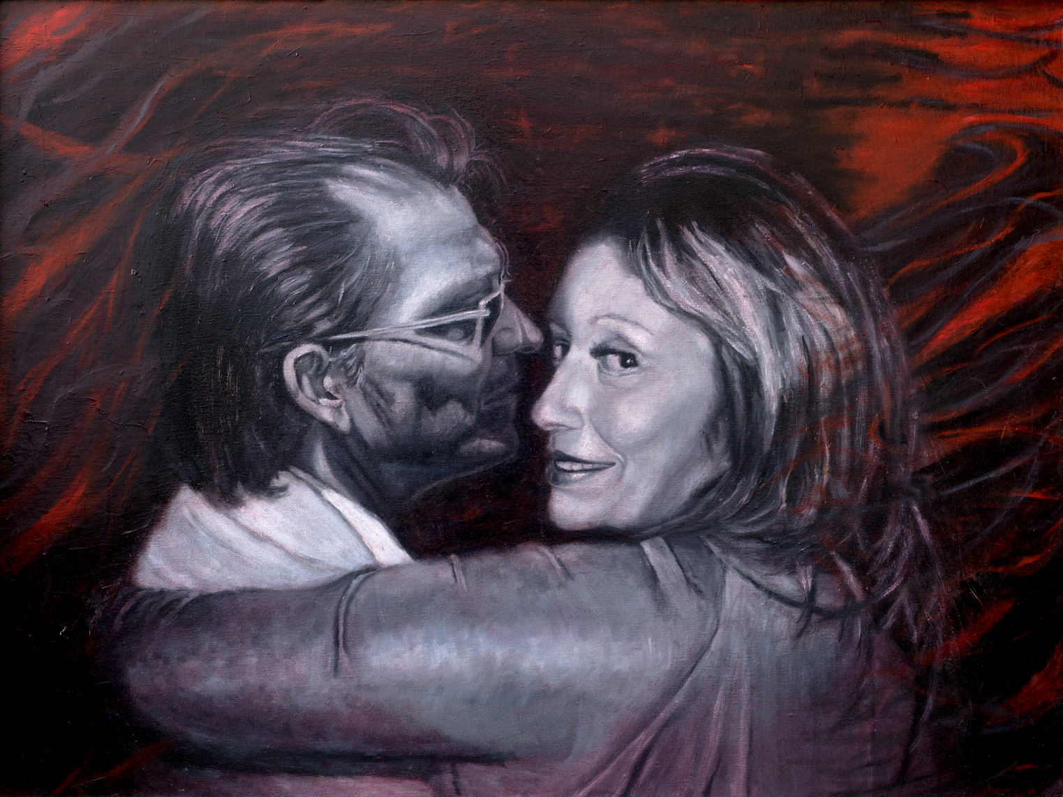 """Its About Love - 40"""" x 30"""" - Oil on canvas"""