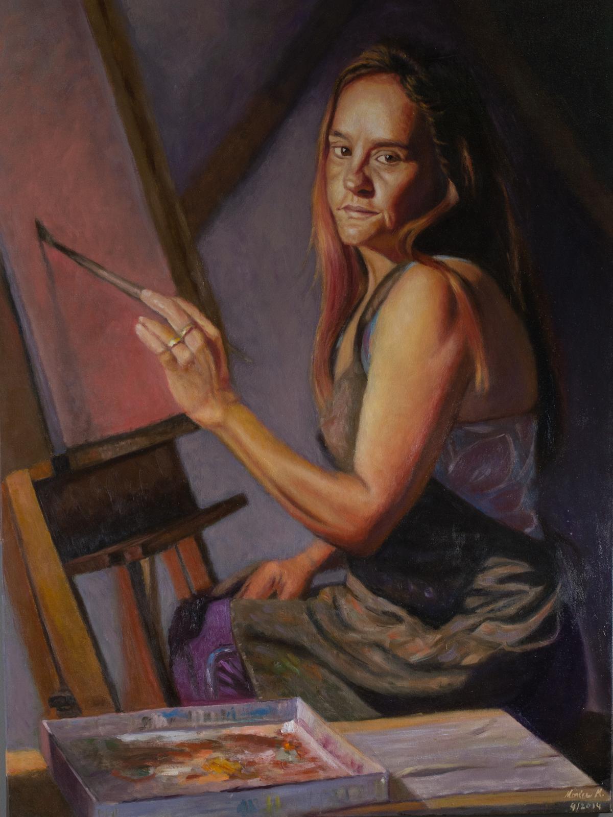 "Motivation - 45"" x 34"" - Oil on canvas"