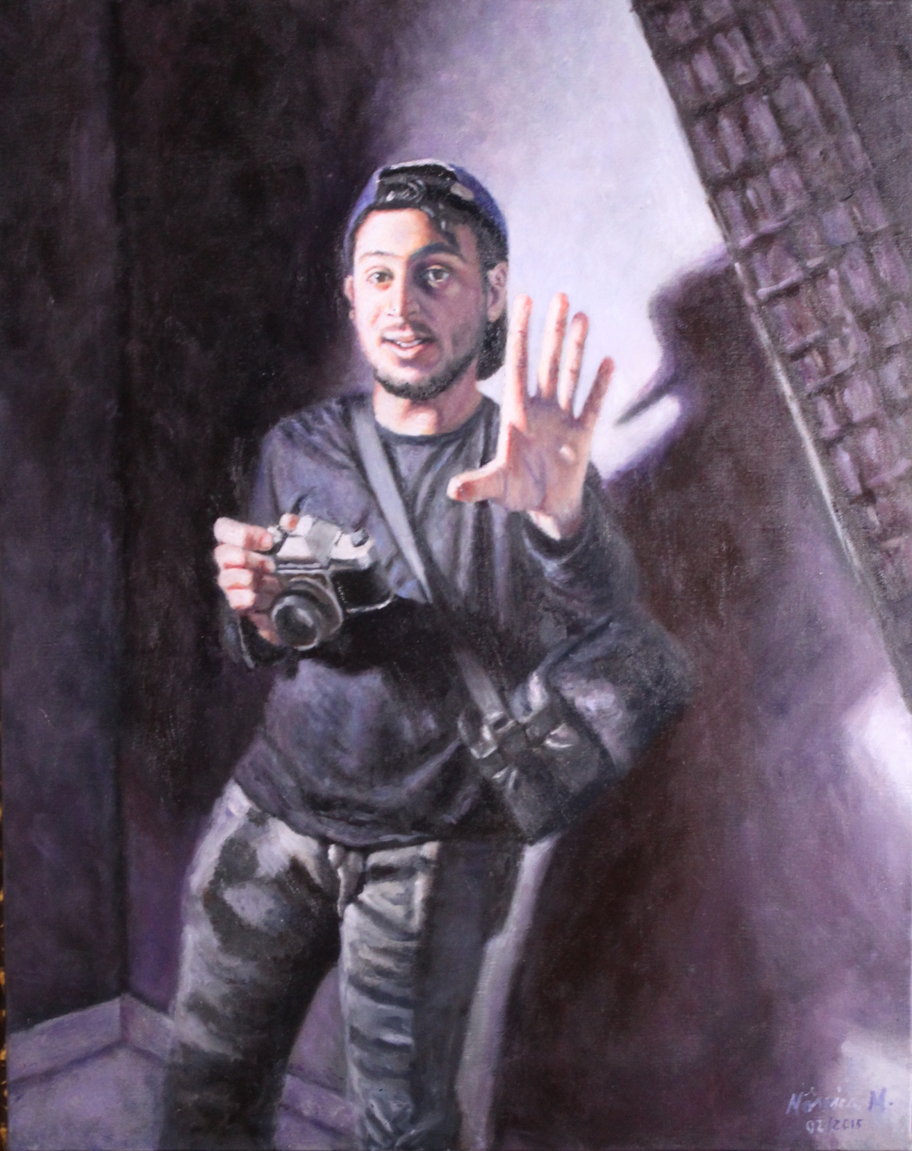 """Decided - 49"""" x 39"""" - Oil on canvas"""