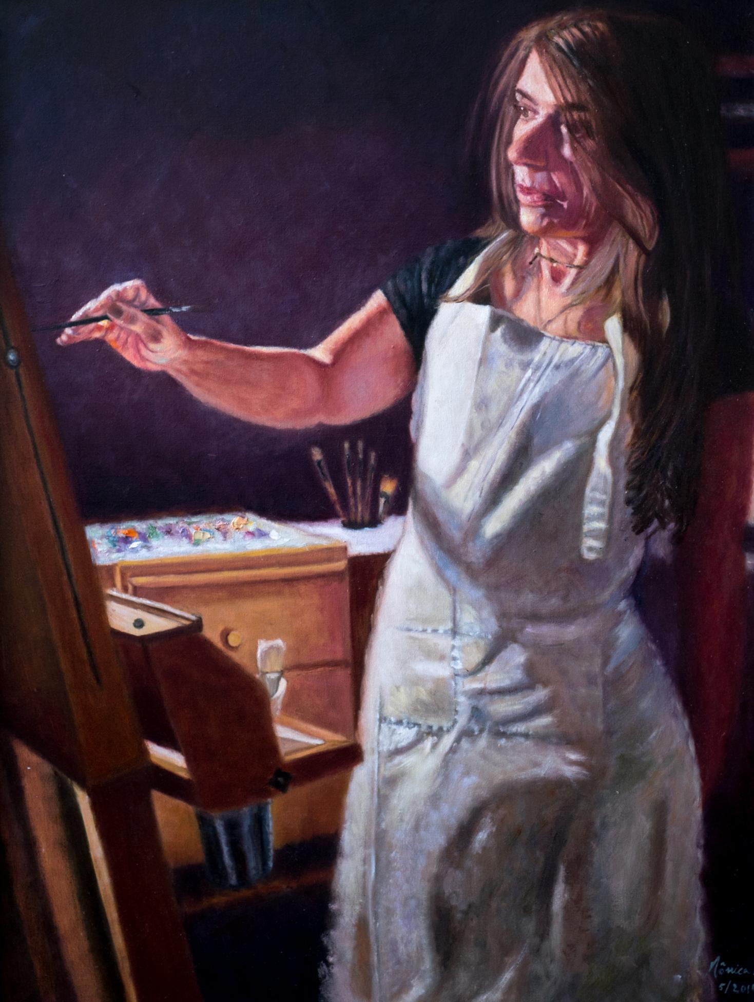 """Achievement - 30"""" x 40"""" - Oil on canvas"""