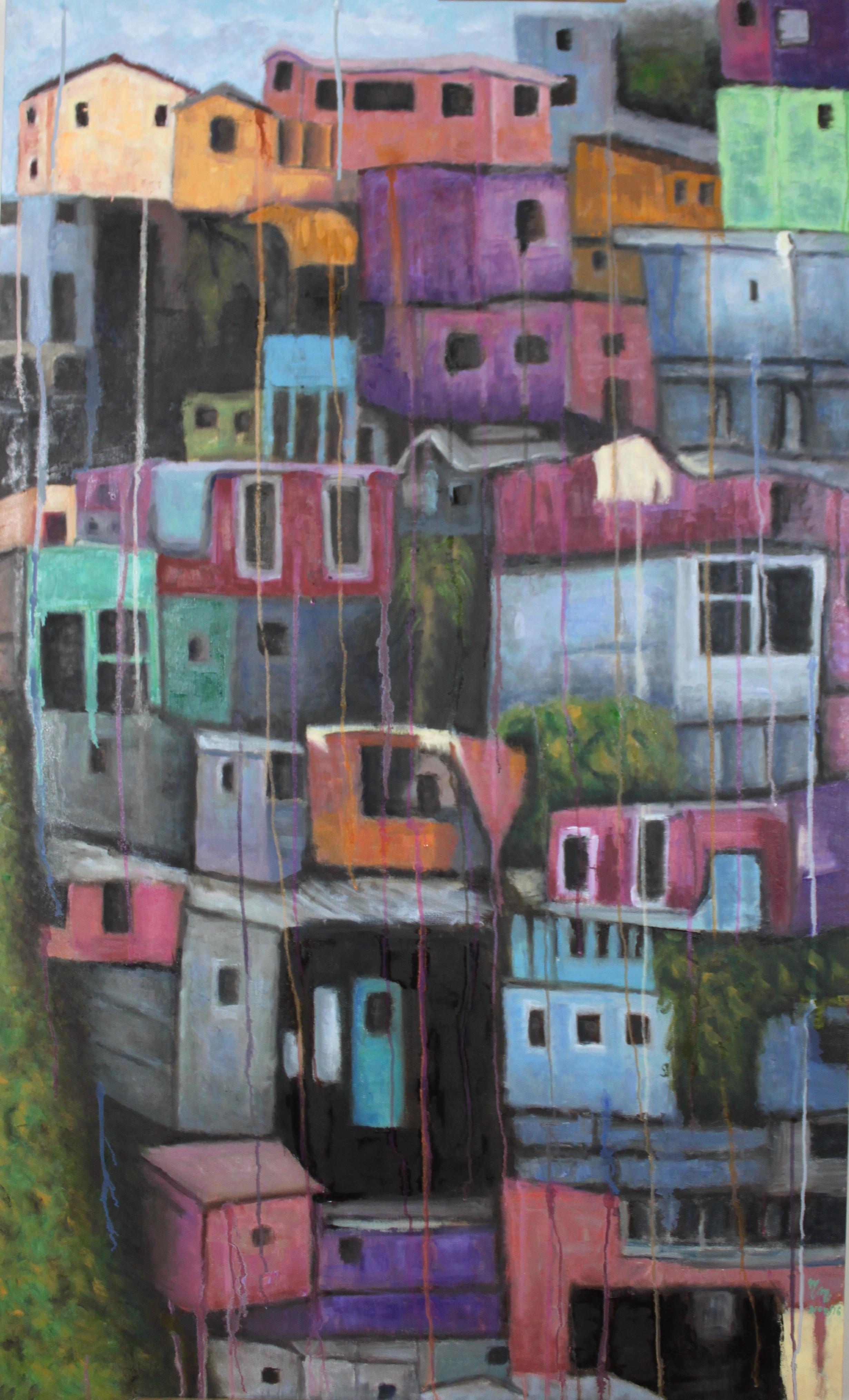 "Cara A Cara - 60"" x 36"" - Oil on canvas"