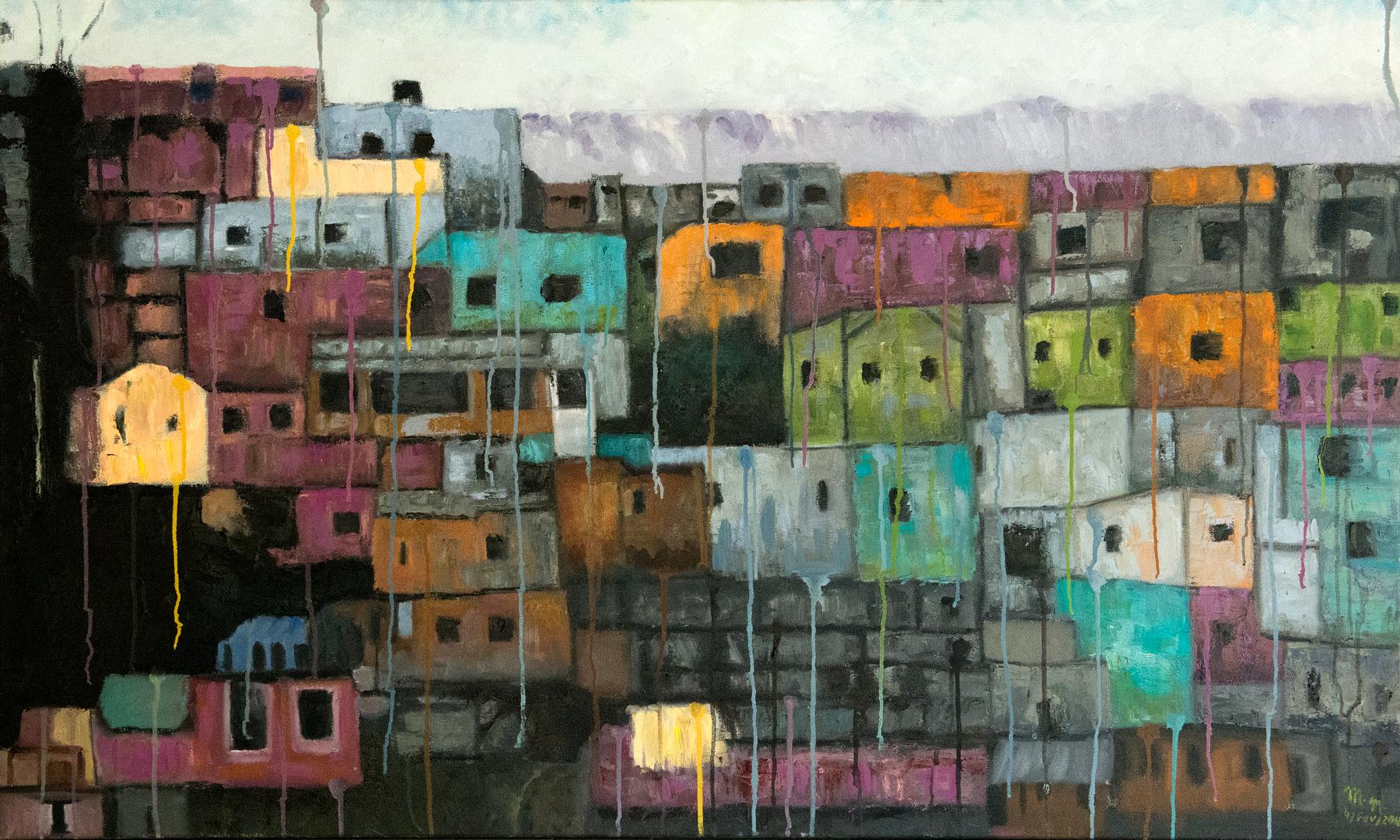 """Dor Que Escorre - 36"""" x 60"""" - Oil canvas"""
