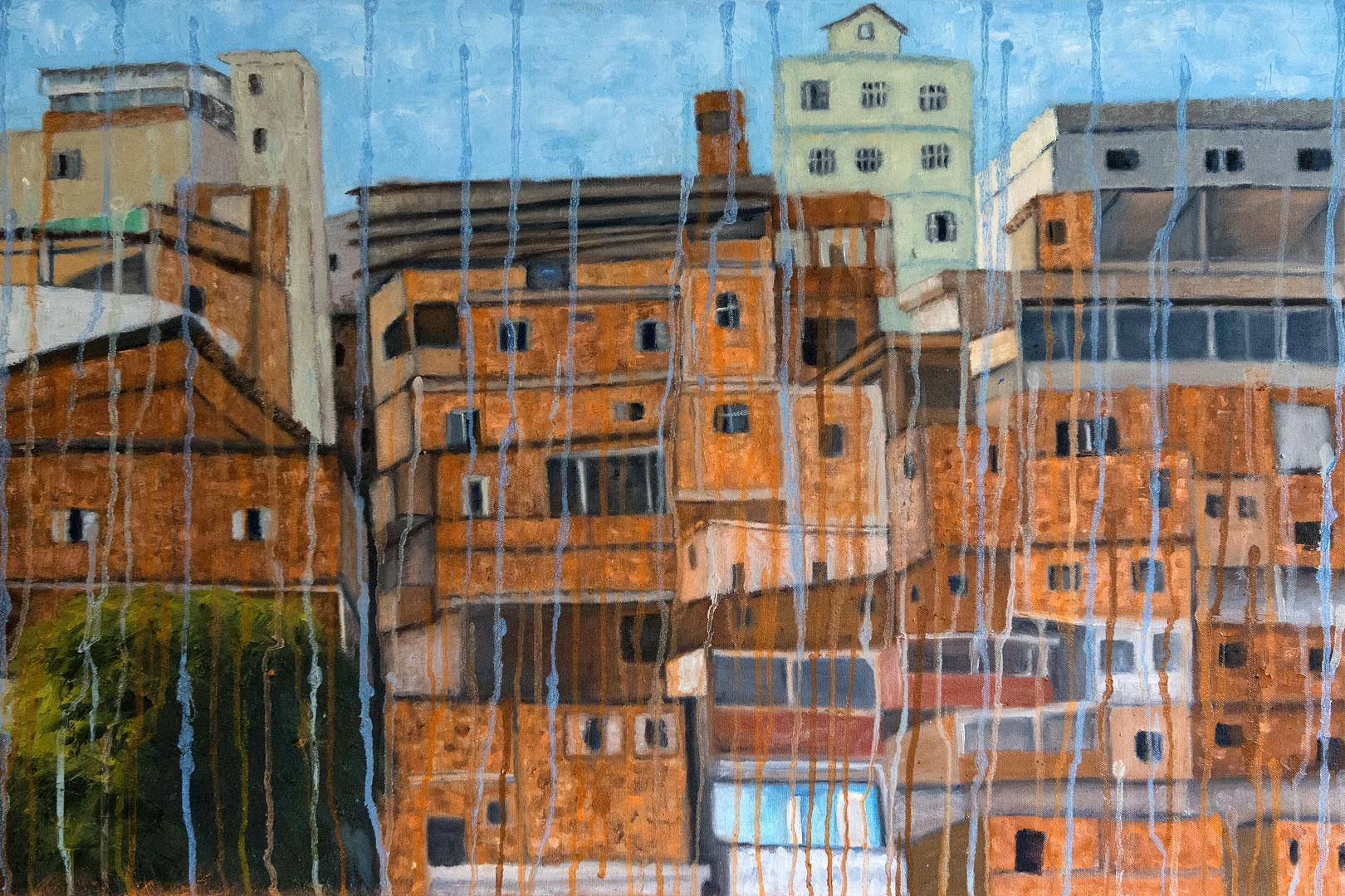 "O Morro Laranja - 36"" x 24"" - Oil canvas"