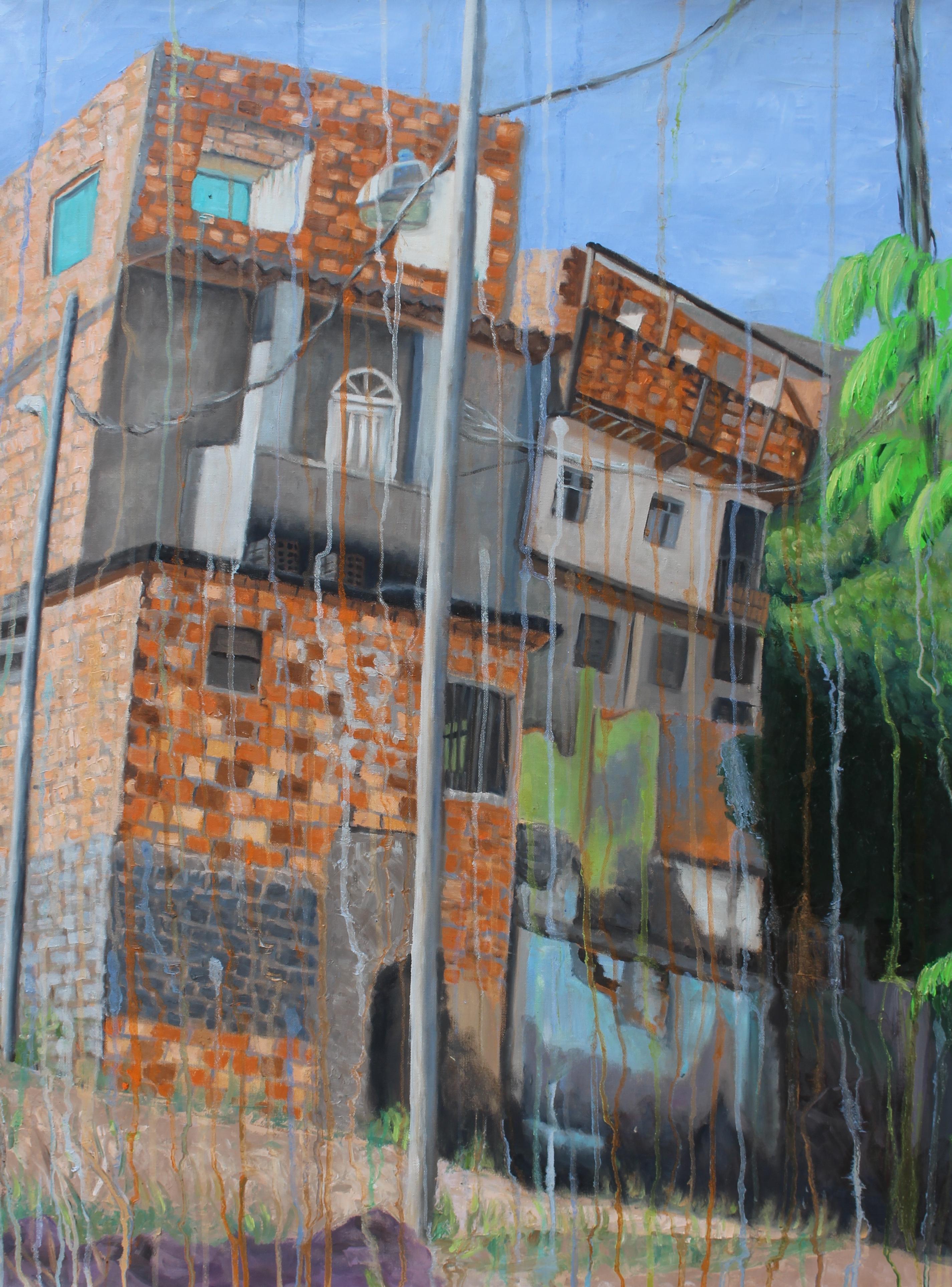 "Nossa Casa Nossa Vida - 32"" x 43"" - Oil on canvas"