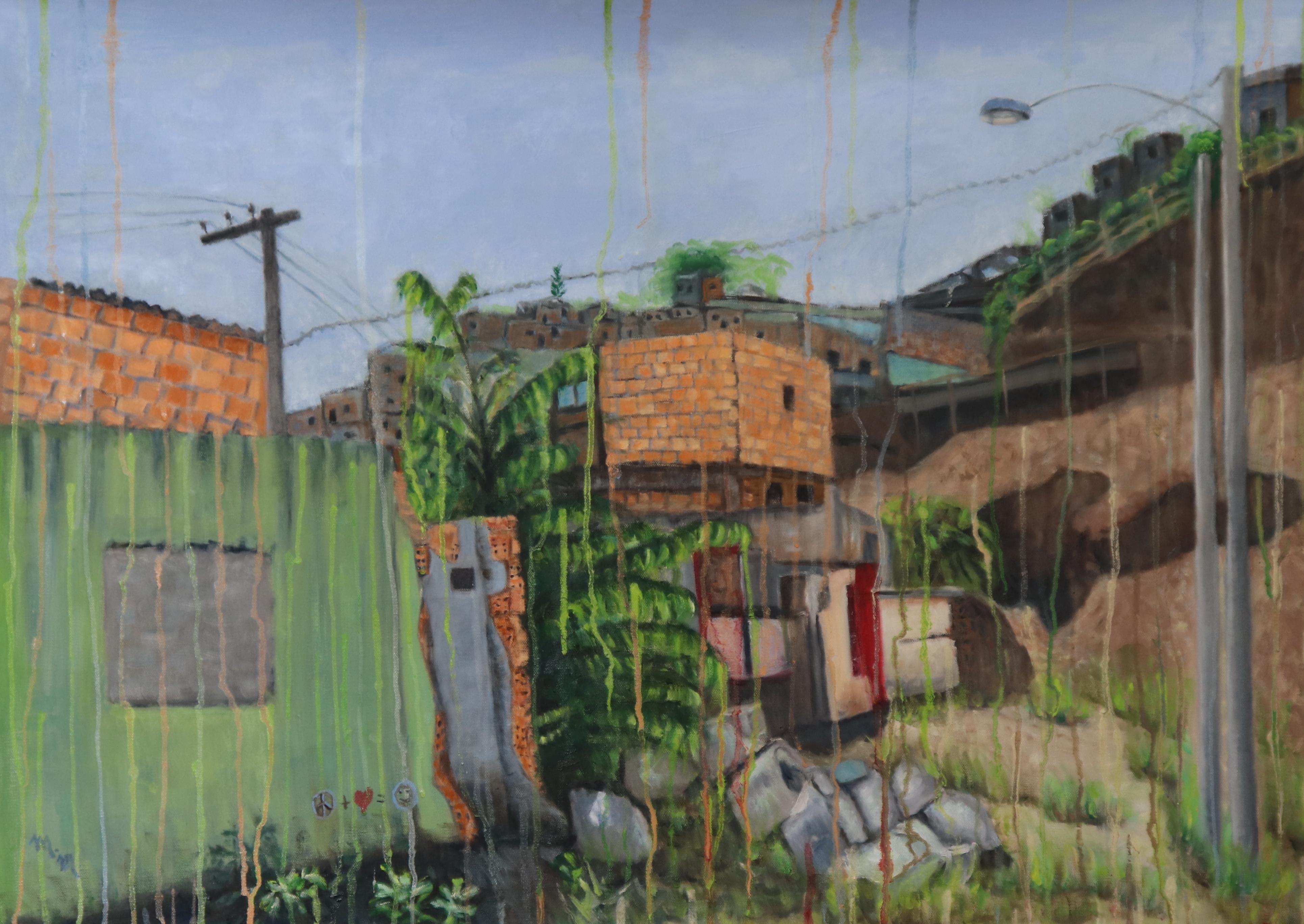 """O Muro Verde - 24"""" x 35"""" - Oil on canvas"""
