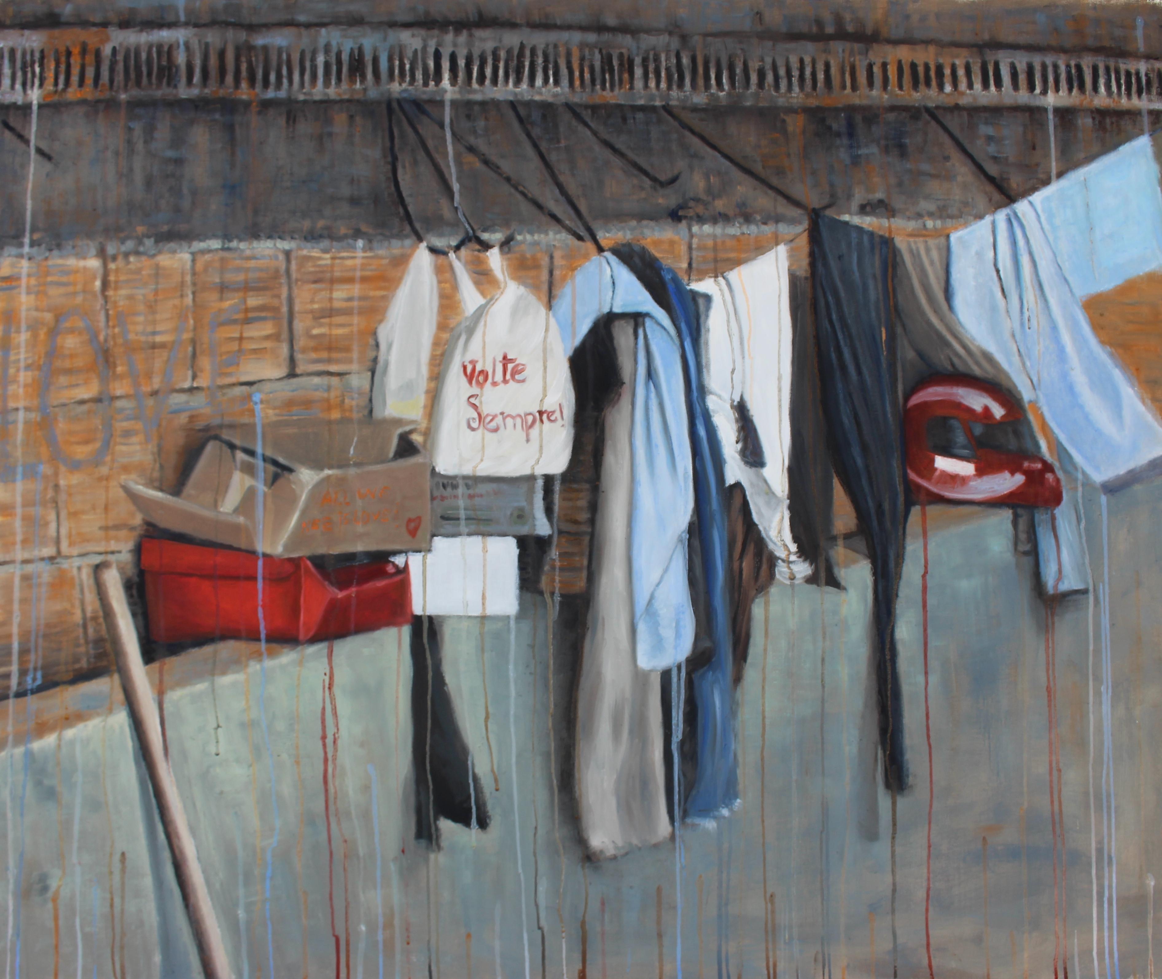 """Seja Bem Vindo - 37"""" x 45"""" - Oil on canvas"""