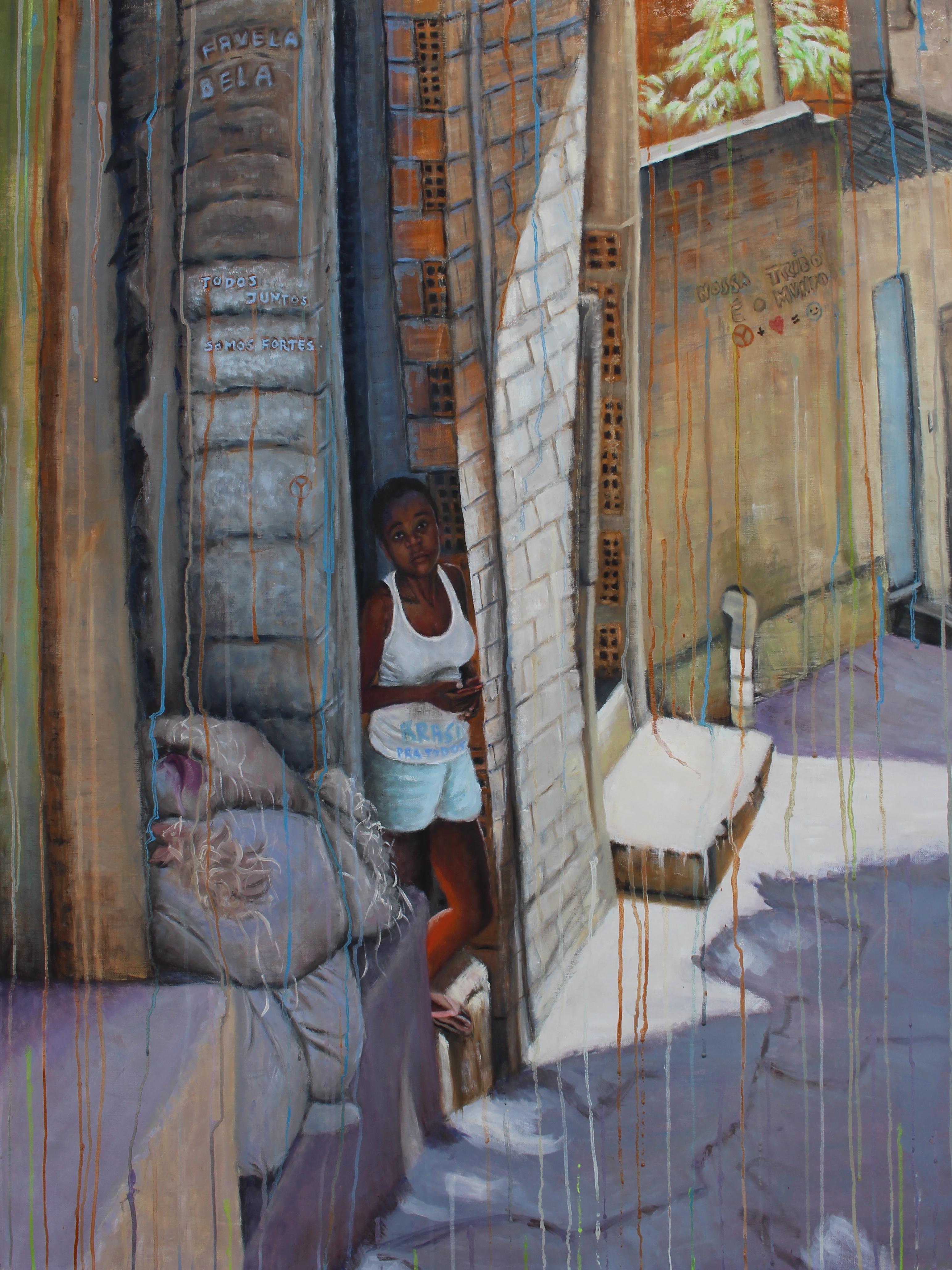 """Um Lugar Melhor - 48"""" x 37"""" - Oil on canvas"""