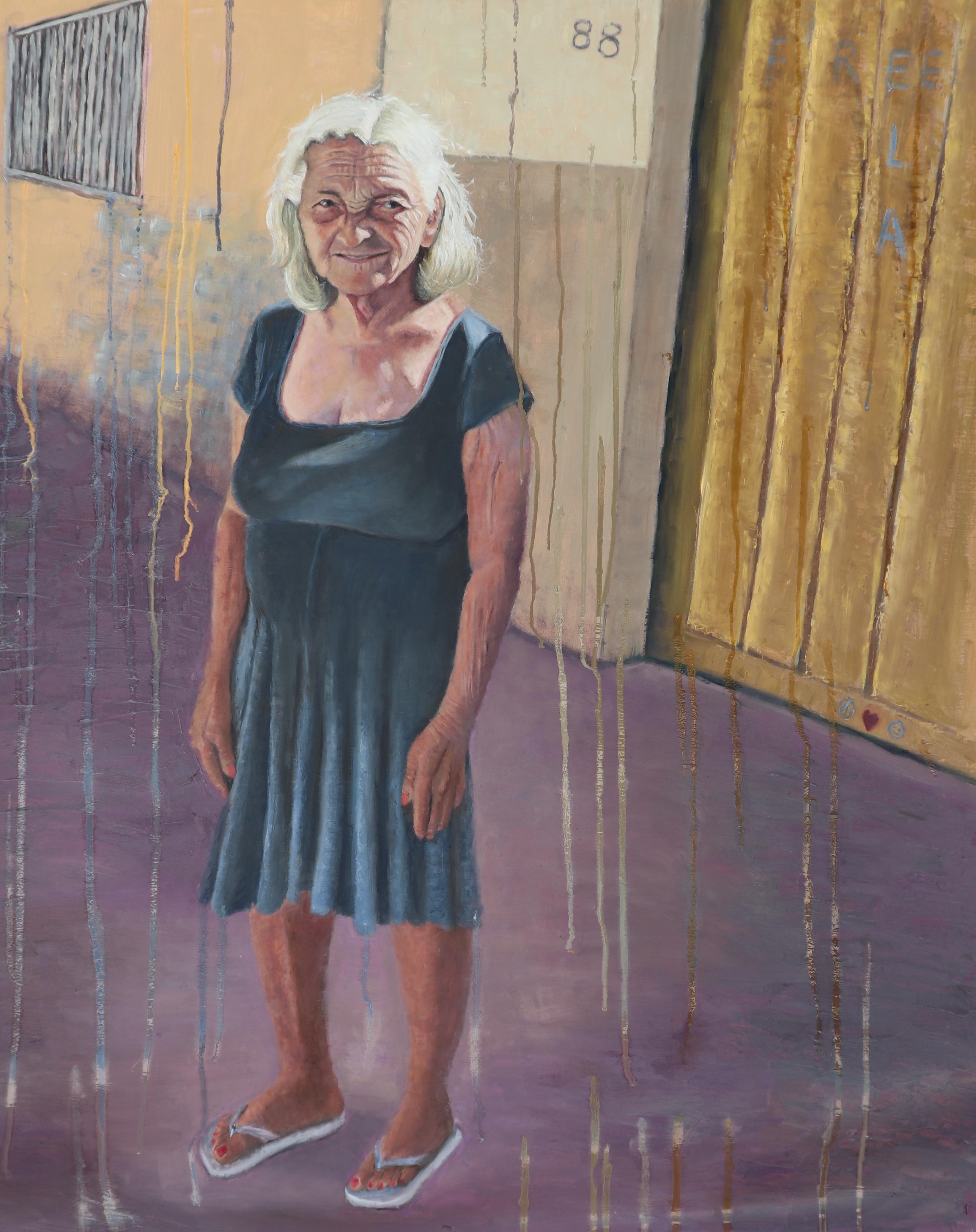 """Ela - 40"""" x 32"""" - Oil on canvas"""