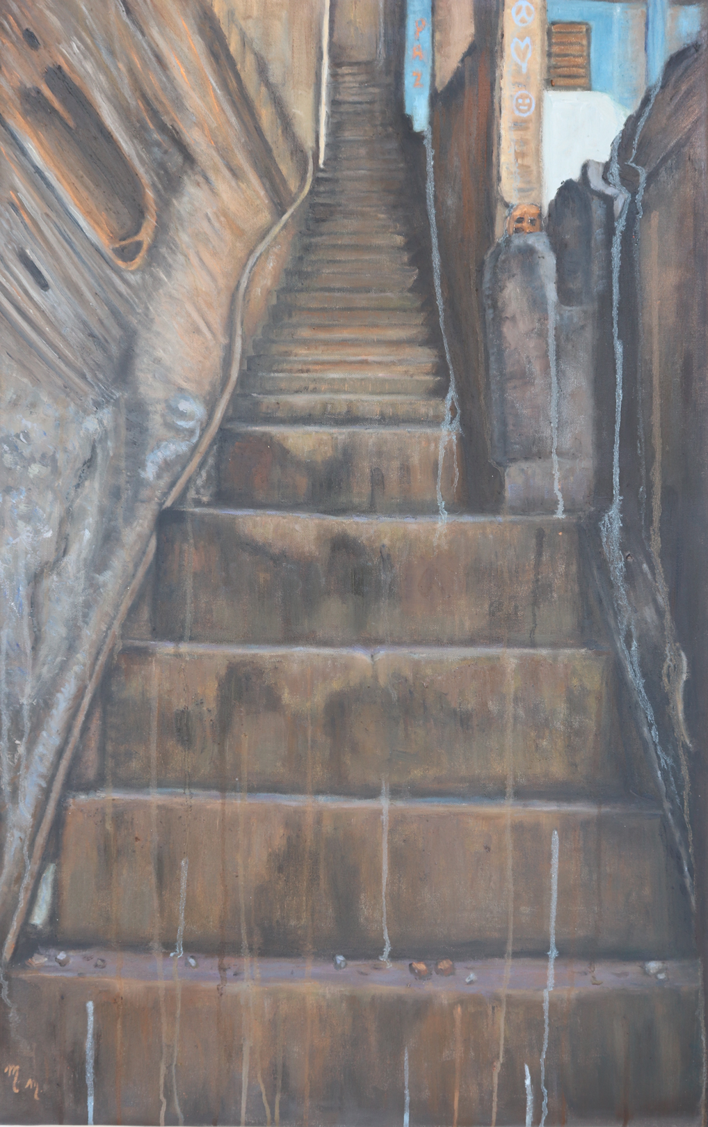 "Up We Go - 38.5"" x 25"" - Oil on canvas"