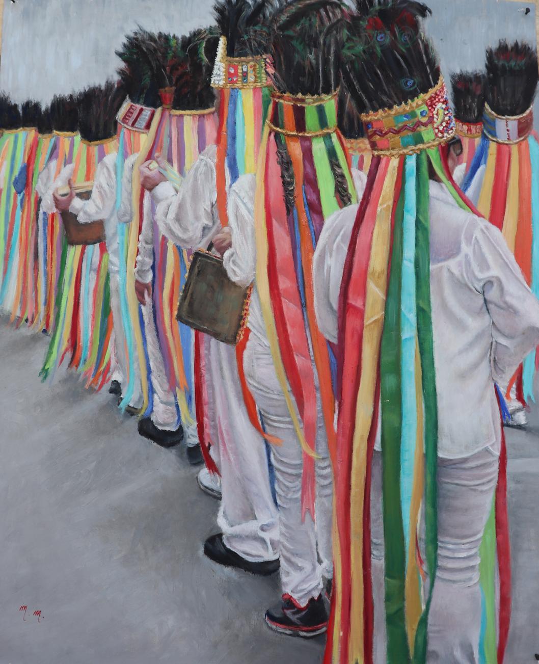 "O Som das Cores - 32"" x 26"" - Oil on canvas"