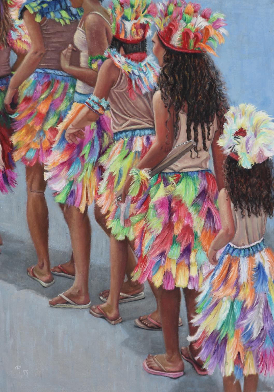 "Os Caboclinhos - 40"" x 28"" - Oil on canvas"