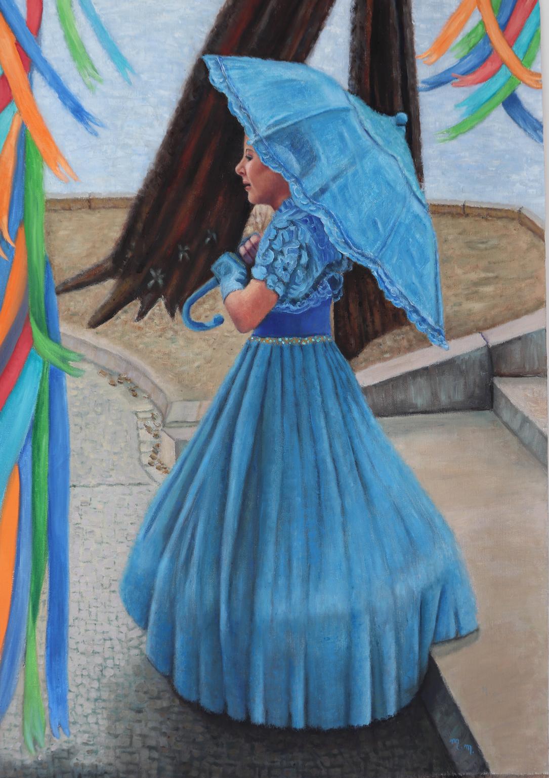 """Reinado De Nossa Senhora Do Rosario - 40"""" x 28"""" - Oil on canvas"""