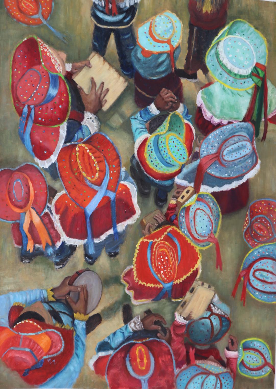 """Todos Por Um - 40"""" x 28"""" - Oil on canvas"""