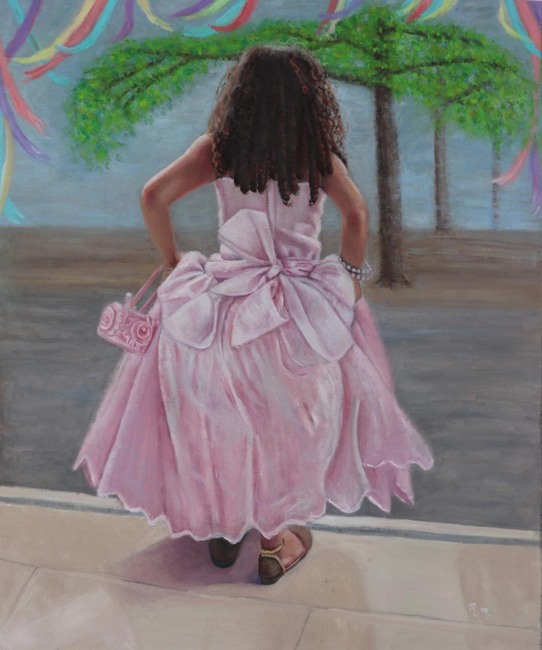 "Adorando Sao Benedito - 32"" x 26"" - Oil on canvas"