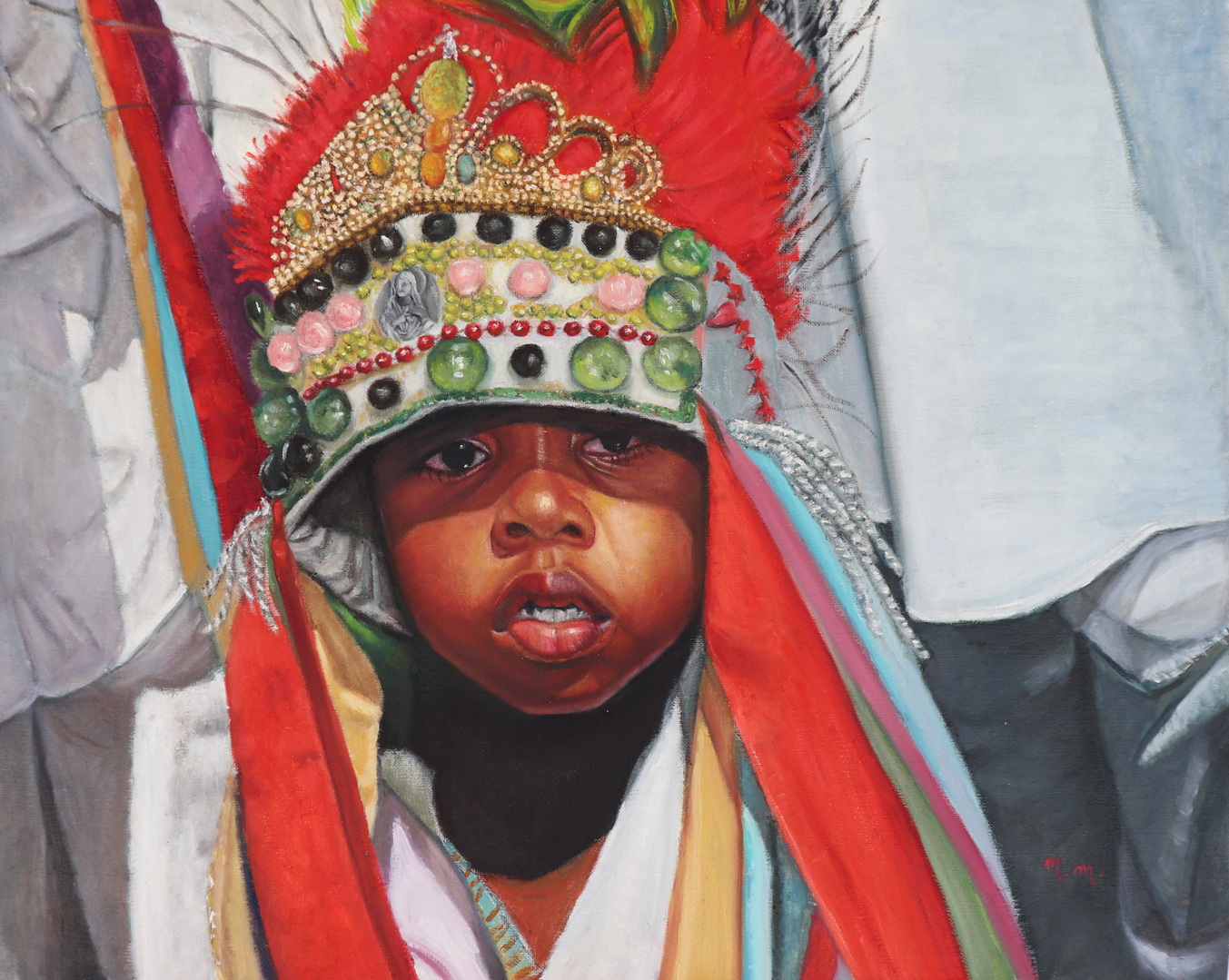 """Catopezinho De São Benedito- 32"""" x 26"""" - Oil on canvas"""