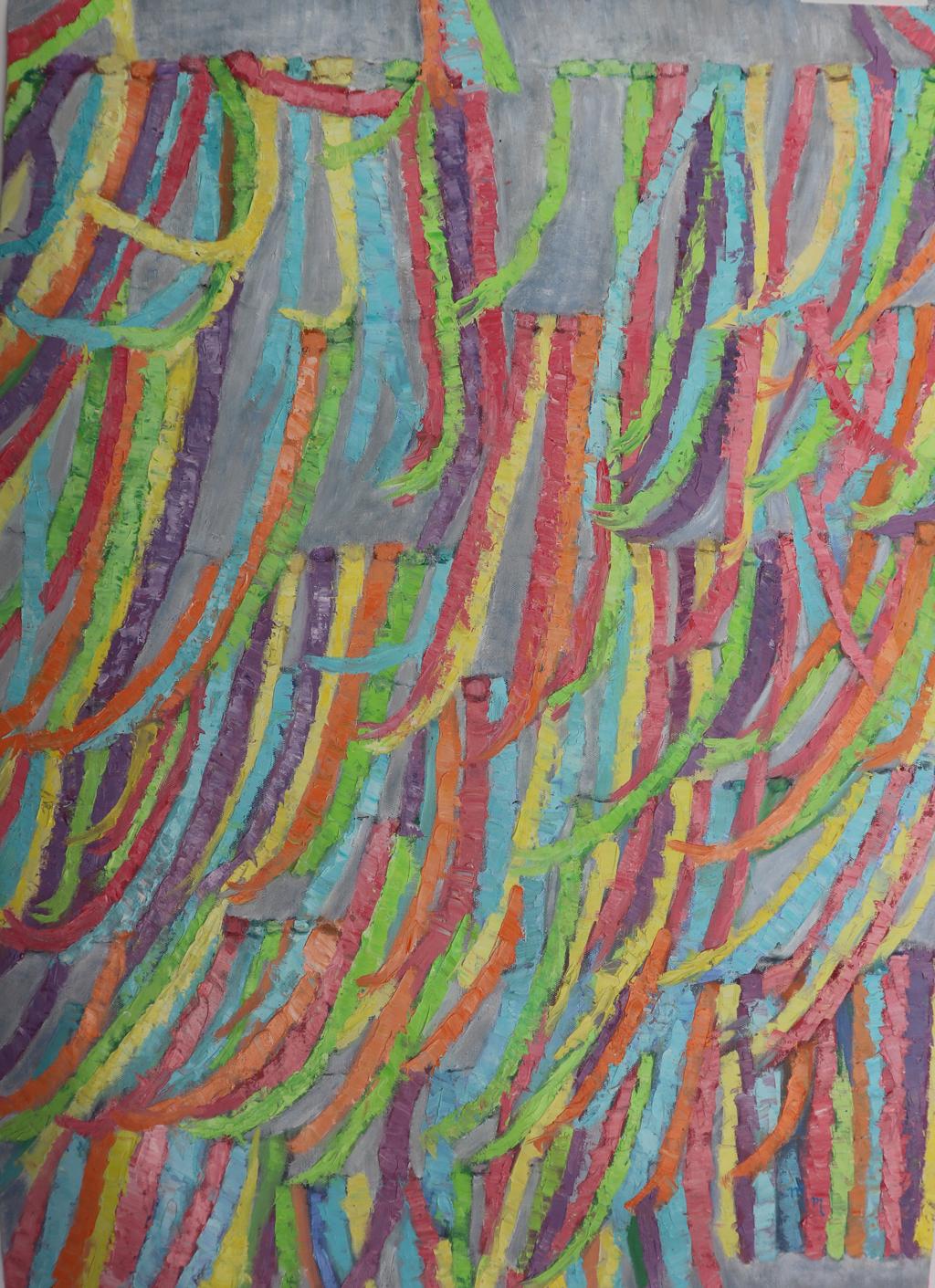 "Fitas de Agosto - 40"" x 28"" - Oil on canvas"