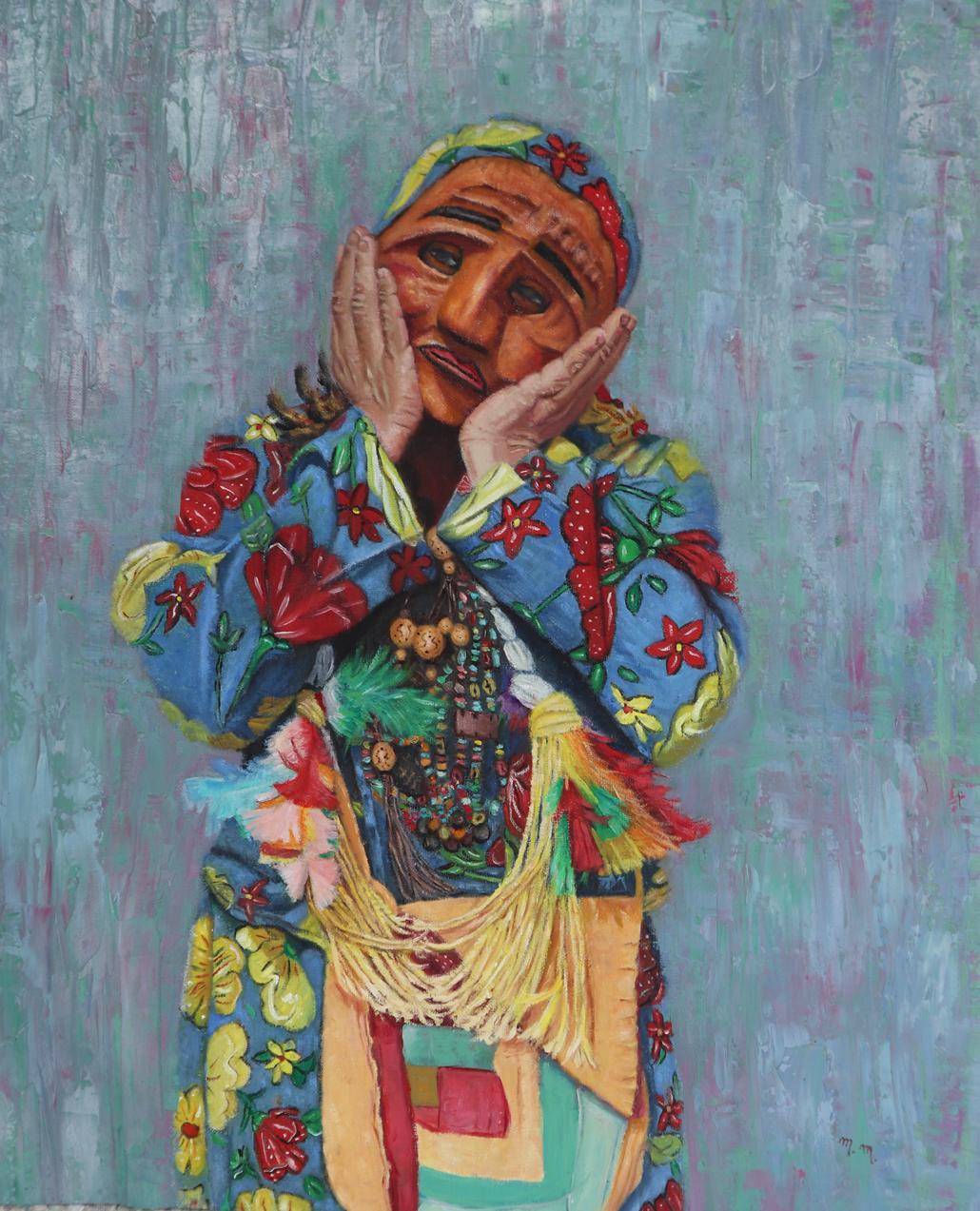 """Mamae Vovó - 32"""" x 28"""" - Oil on canvas"""
