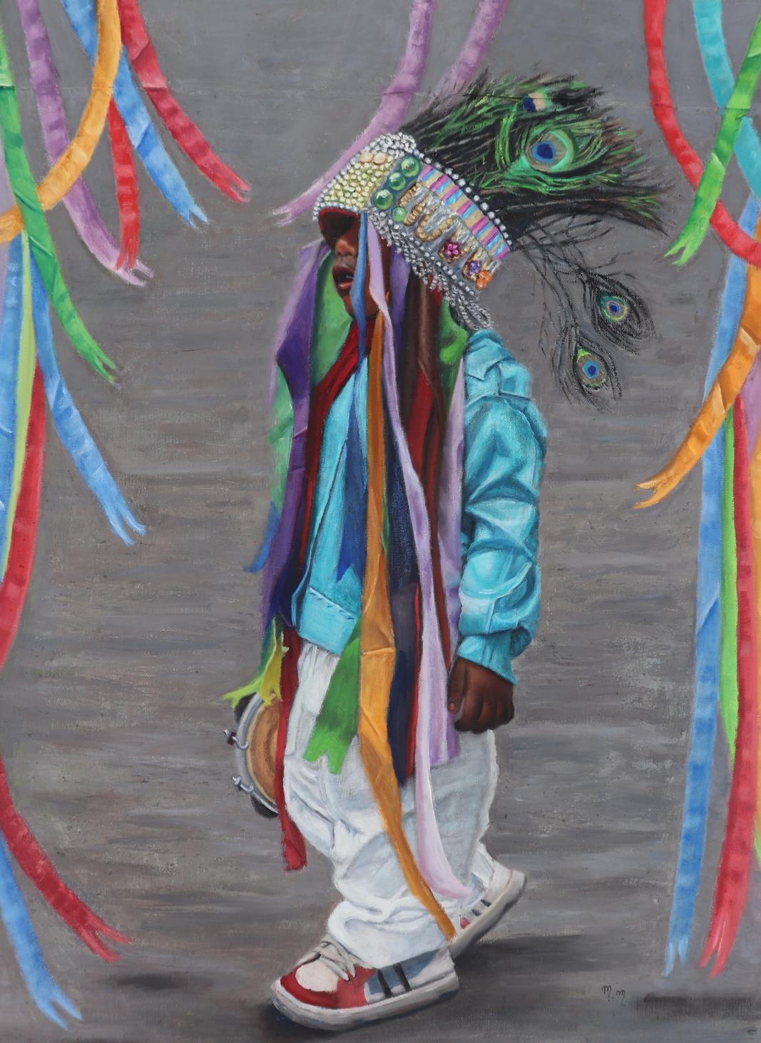 """Sonho  de Catopezinho - 36"""" x 26"""" - Oil on canvas"""