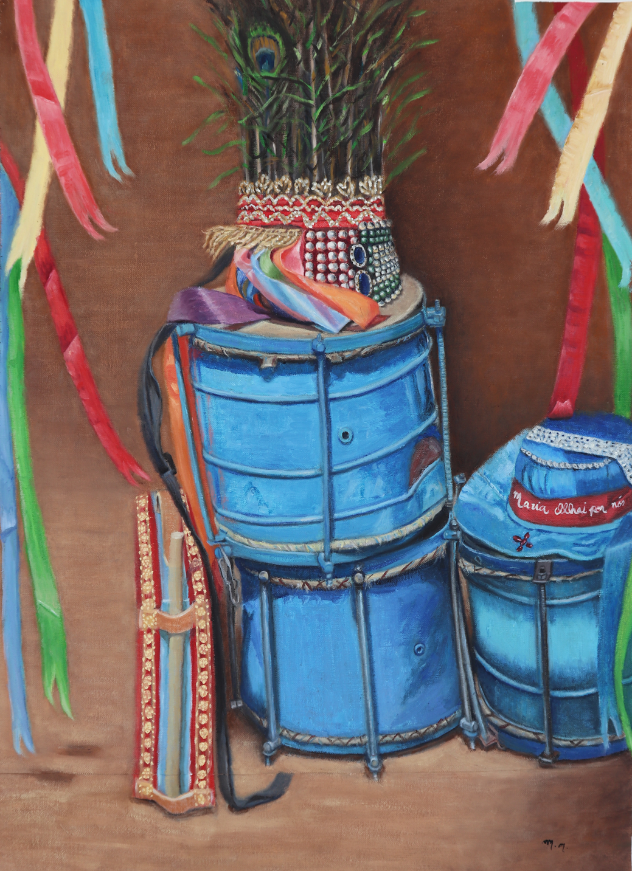 """Musica de raiz - 32"""" x 26"""" - Oil on canvas"""