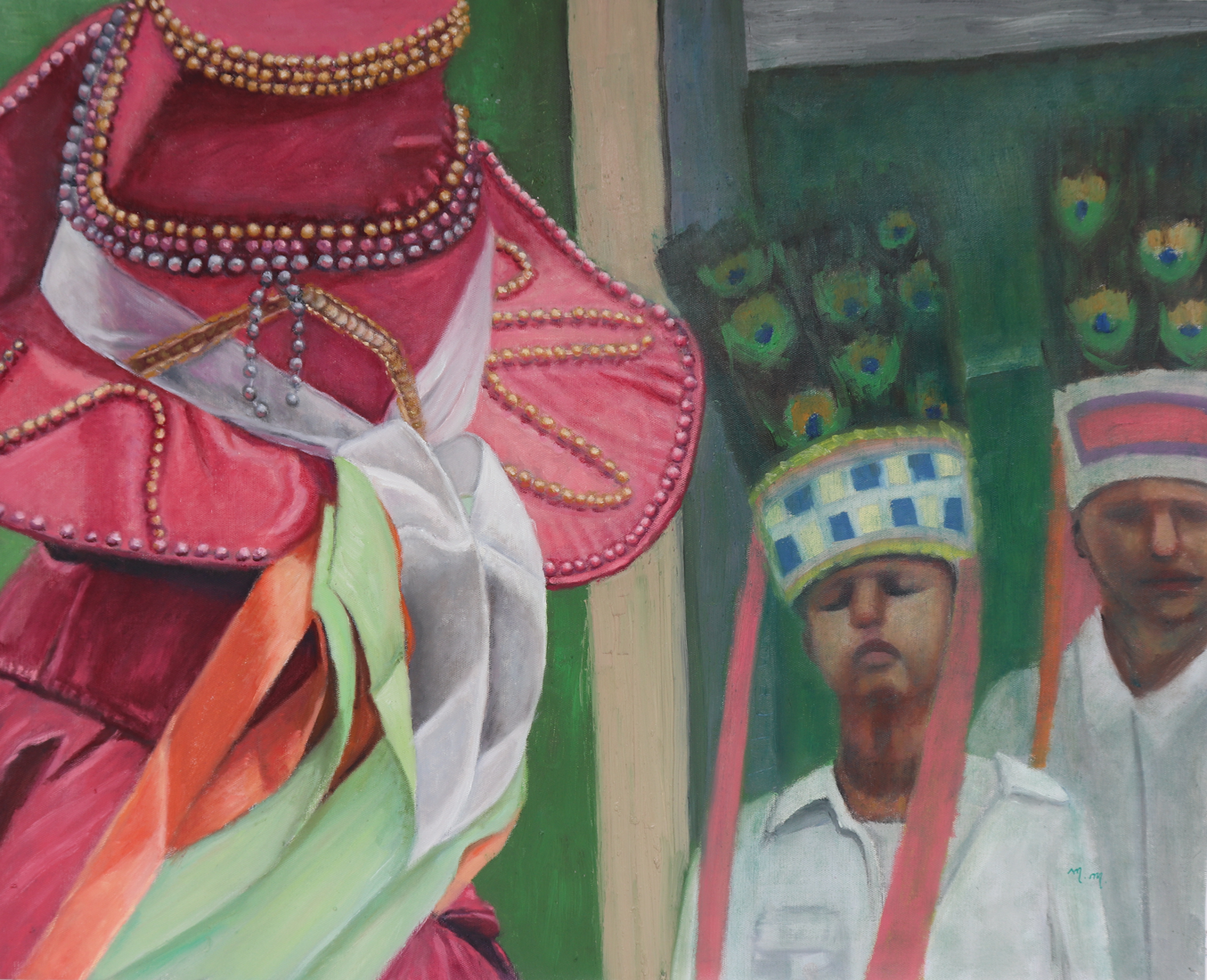 "Ora Vamo - 32"" x 26"" - Oil on canvas"