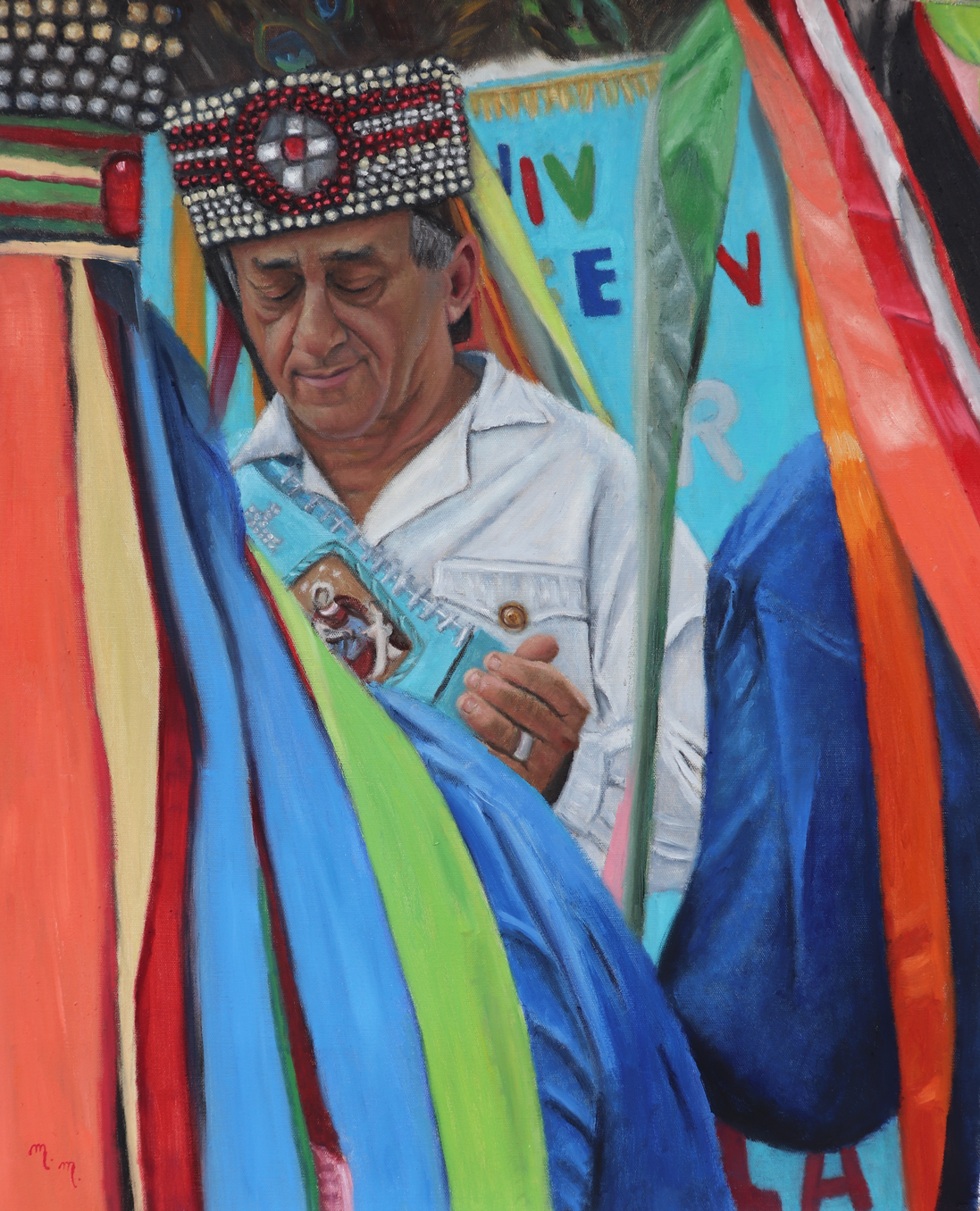 "Repique O Tambor - 26"" x 32"" - Oil on canvas"