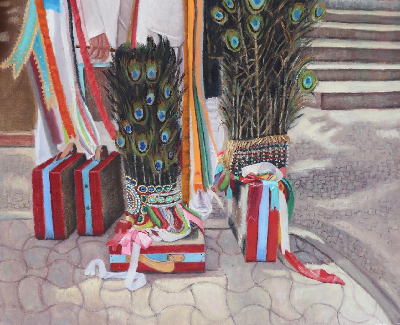 """Festas De Agosto - 32"""" x 26"""" - Oil on canvas"""