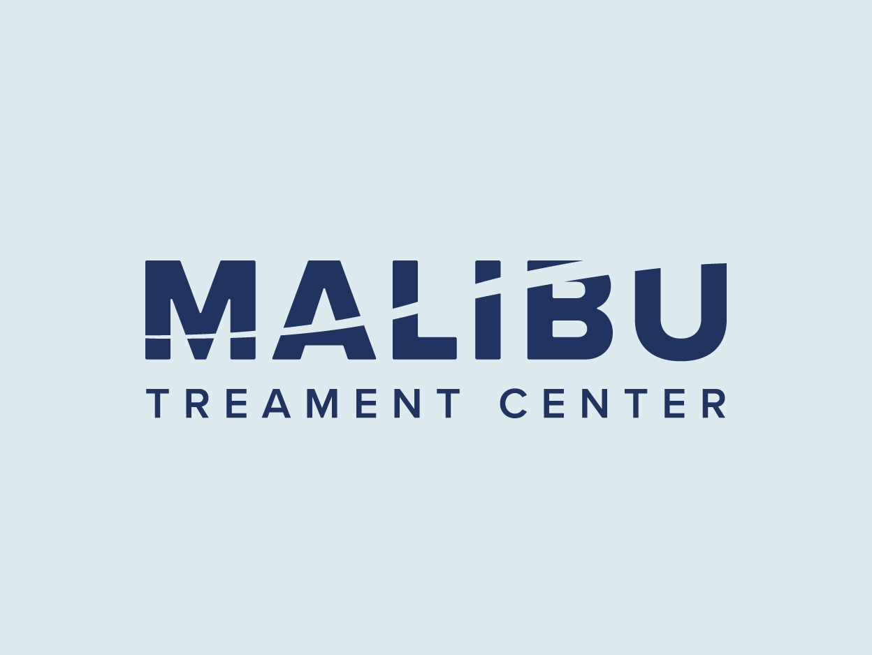 "A blue logotype of the words ""Malibu Treatment Center."""