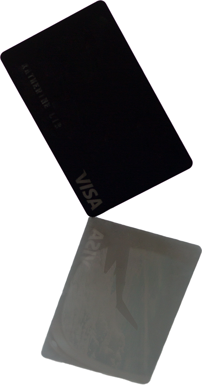 A mysterious credit card that is still dark
