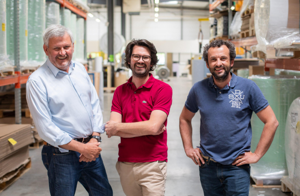 Les trois fondateurs de l'entreprise Appcell: Jean-Pierre Billiard, Matthieu Billiard et Denis Ménoret
