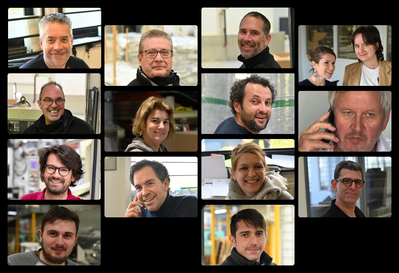 Montage photo de chaque membre de l'équipe Appcell.