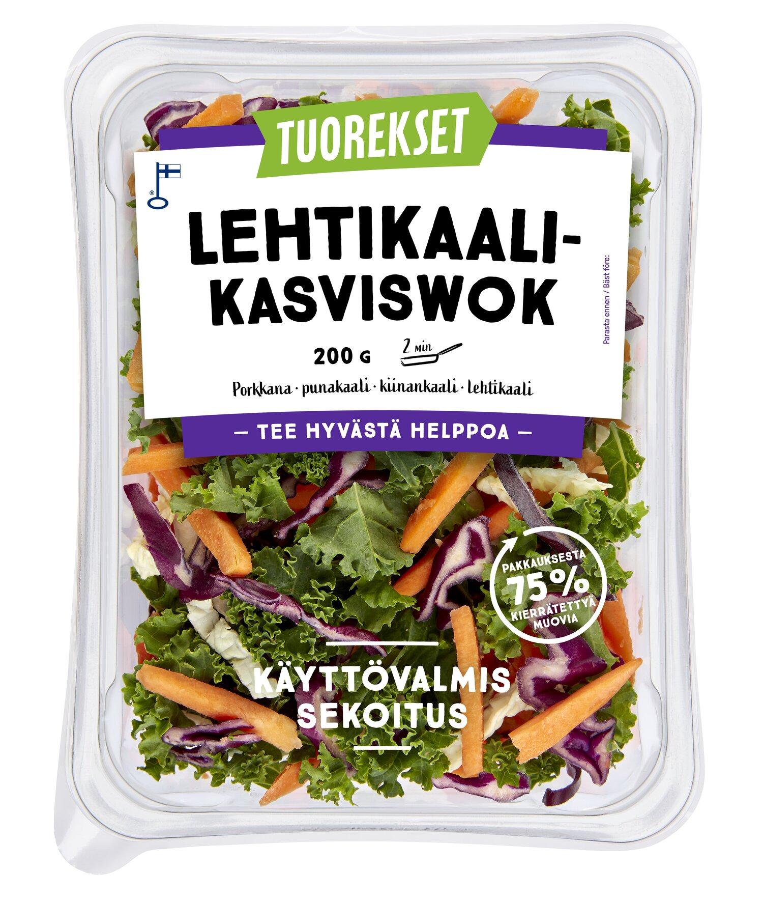 Tuorekset Lehtikaali-Kasviswok