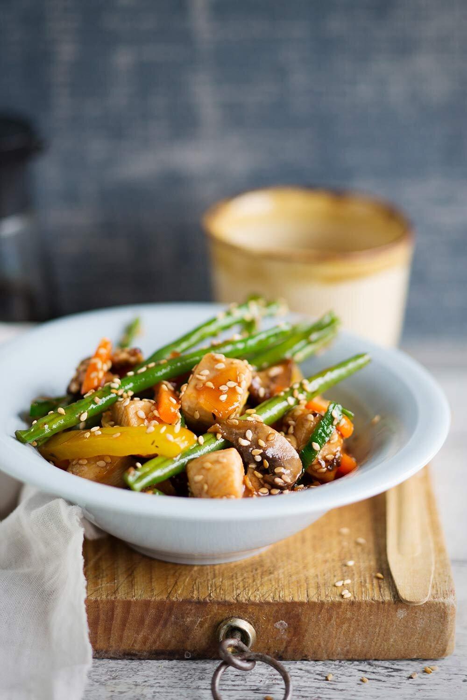 Sweet and sour wok à la Tuorekset