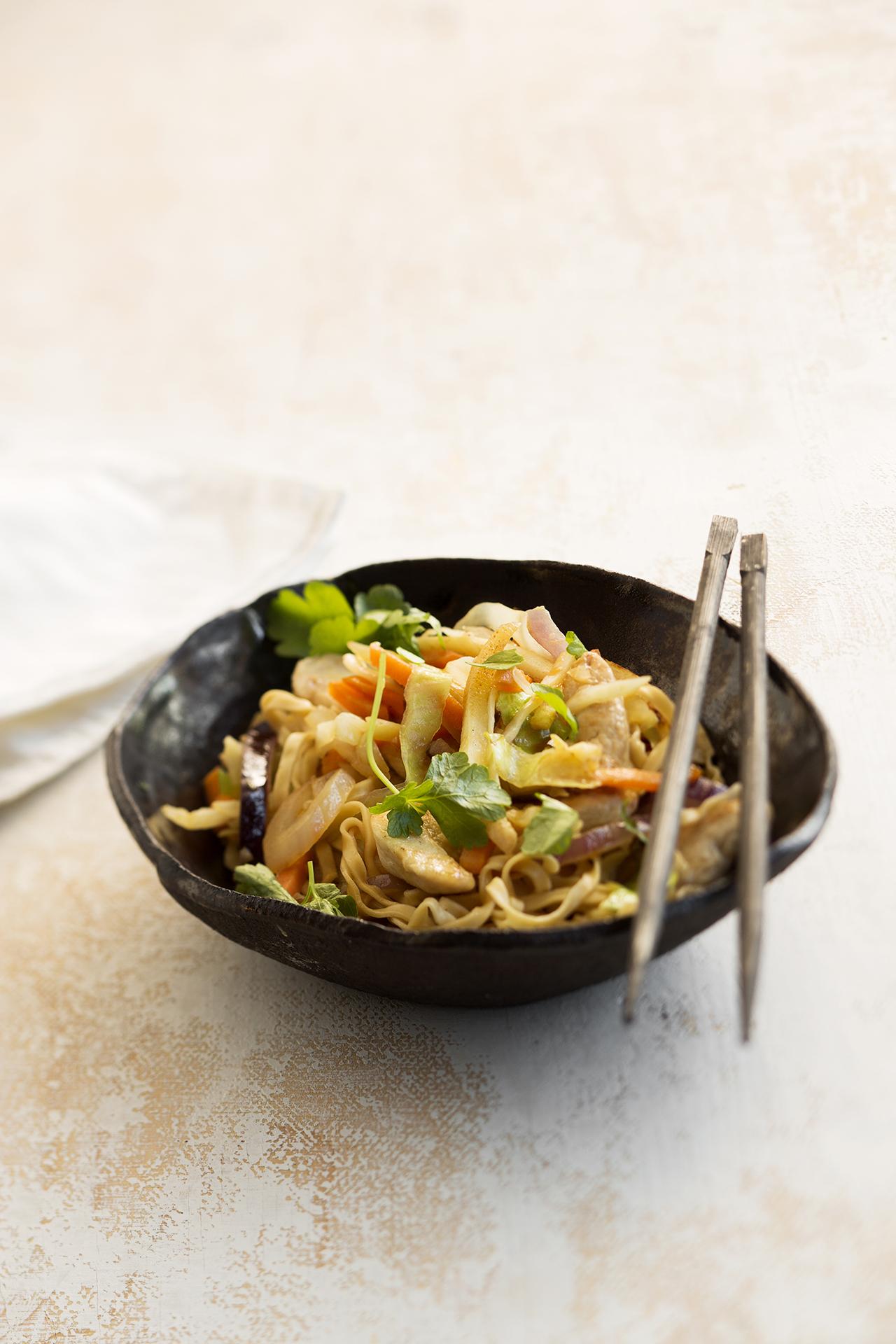 Chicken Lo Mein à la Tuorekset