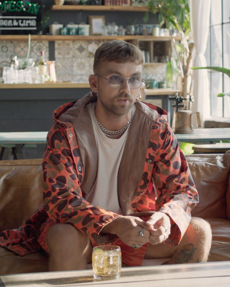 Sonreal sitting on couch