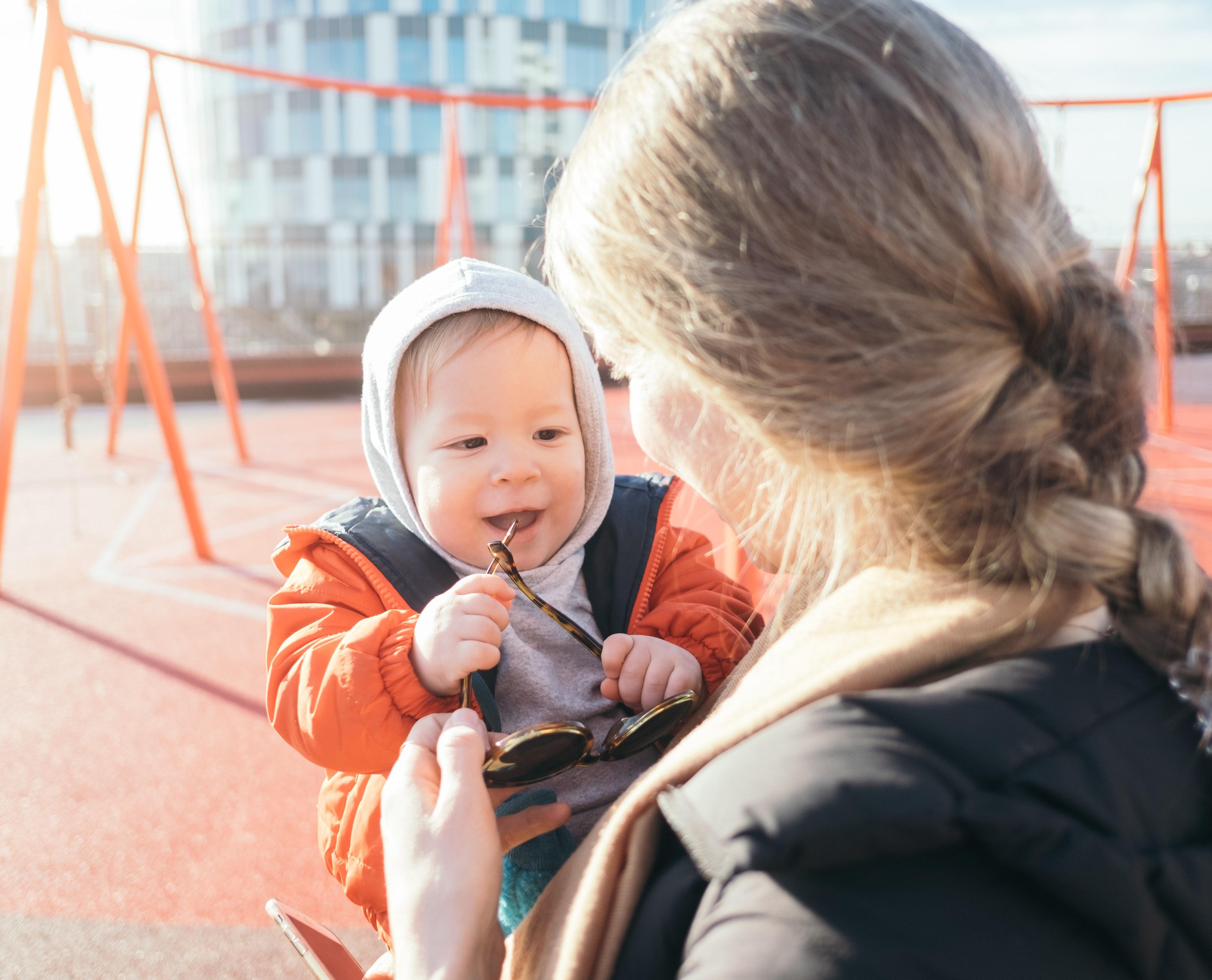 Woman and baby in Copenhagen