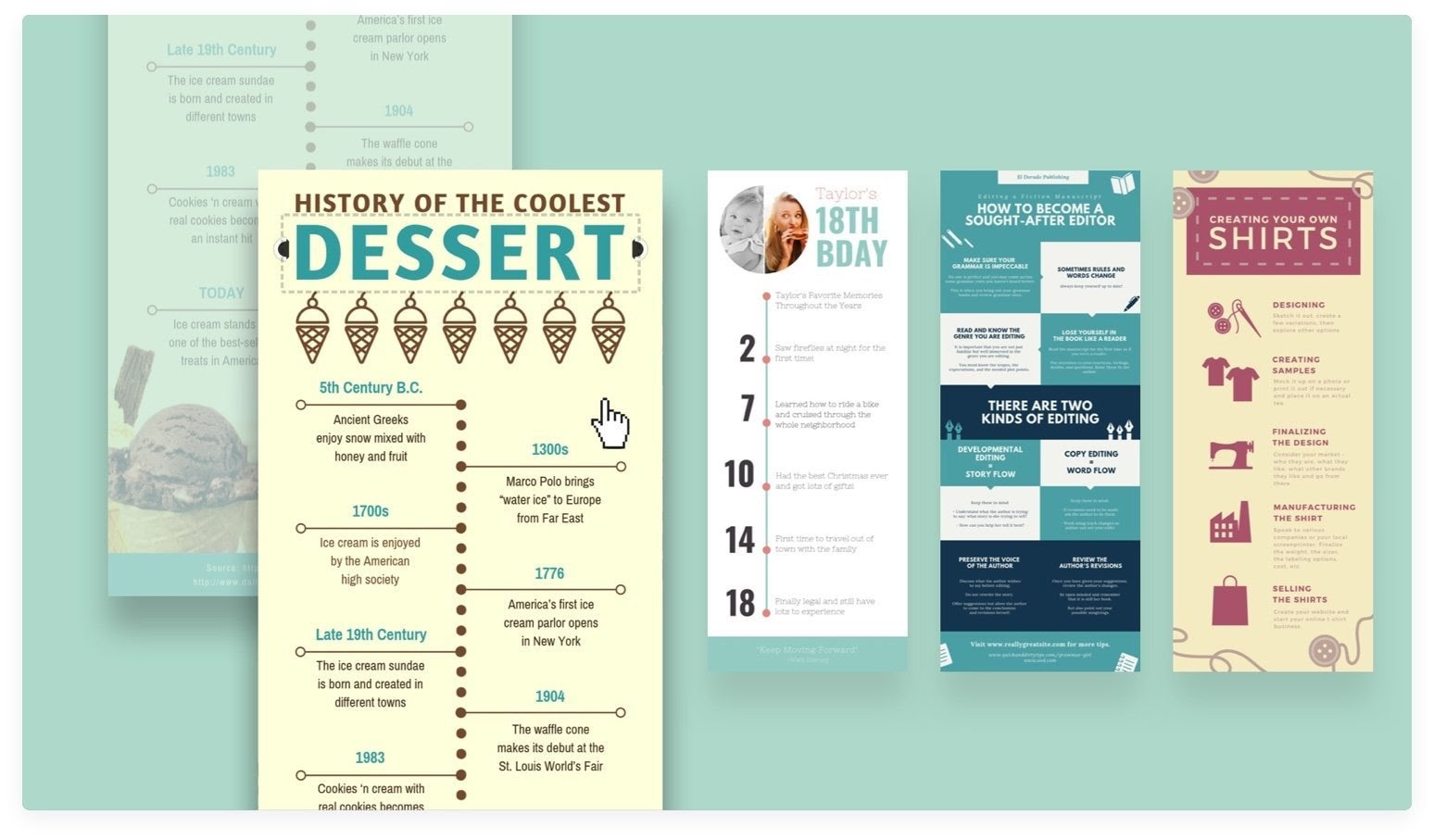 example infographics created with canva